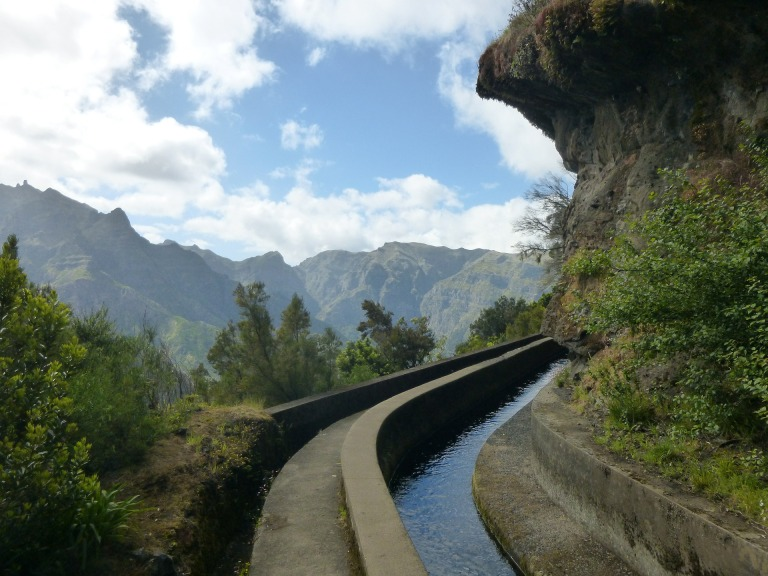 Levada hiking trail, Madeira