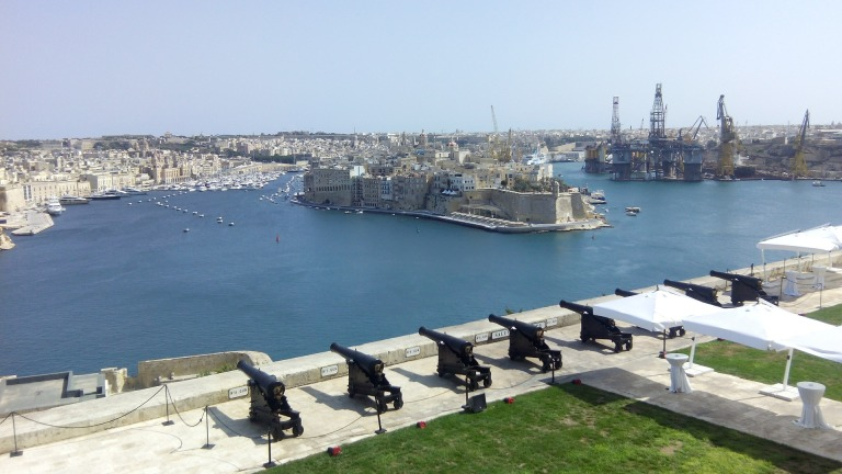 Saluting Battery in Valletta Malta