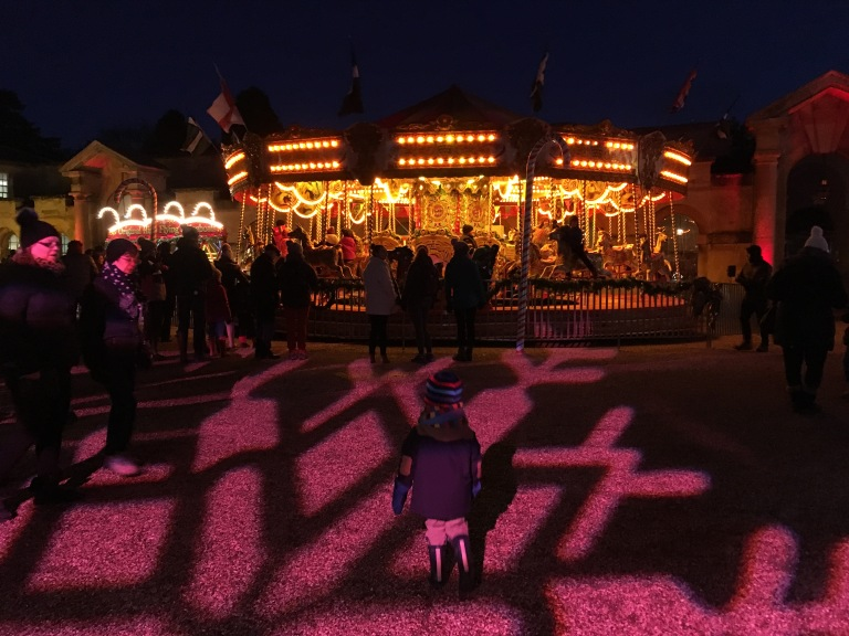 Fairground rides at Blenheim Palace