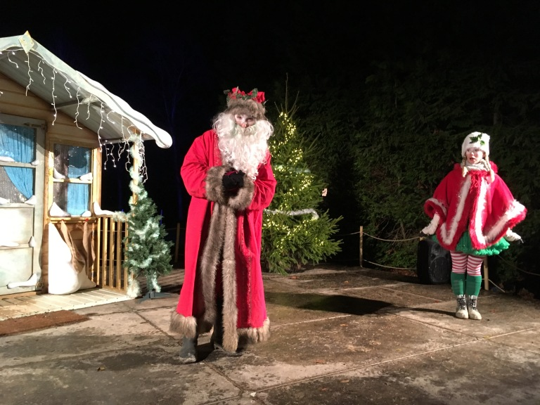 Father Christmas and helper