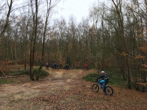 Big kids biking at Mardley Heath...